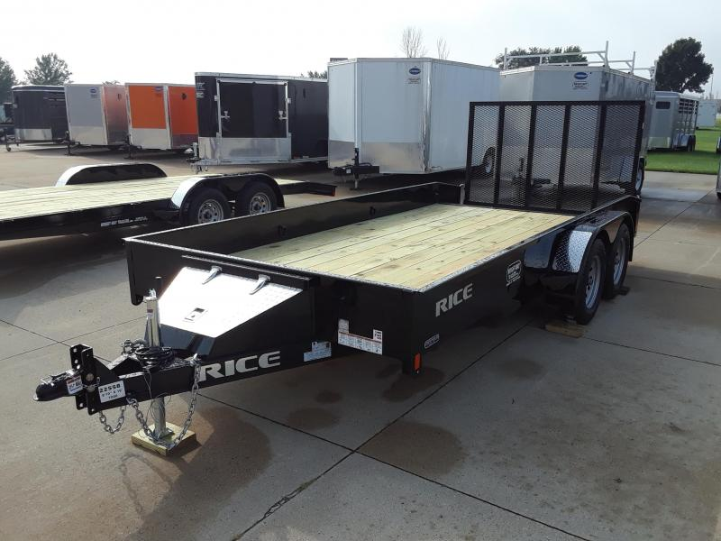 2019 Rice TST8216DT Utility Trailer