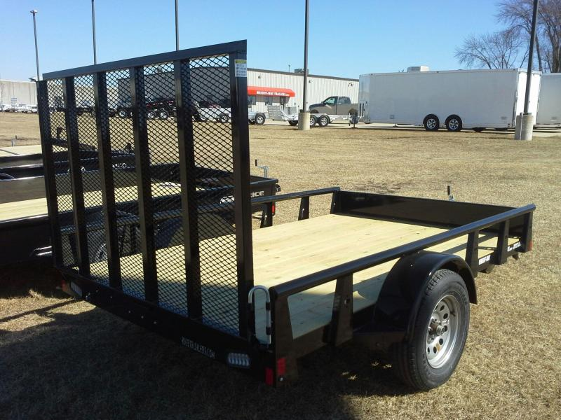 "RICE 76"" X 10' PIPE RAIL UTILITY TRAILER"