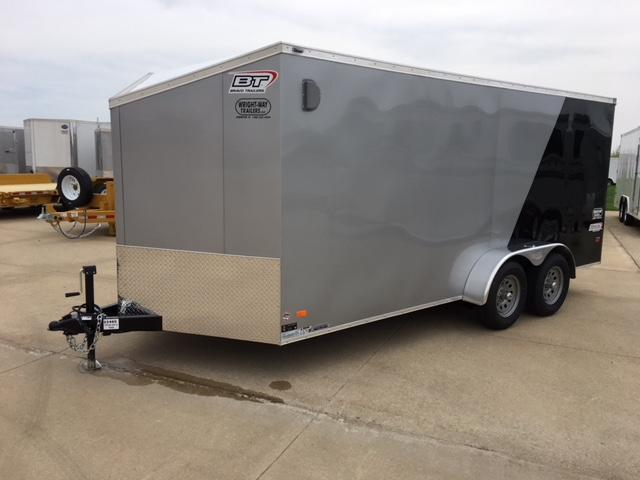"2019 Bravo 7 x 16 + 30"" V- Nose Slant Wedge Trailer"