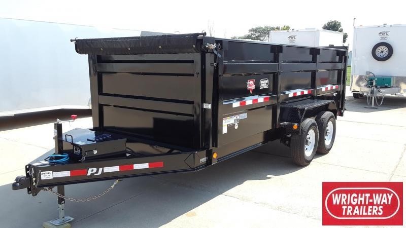 PJ Trailers 16' Dump Trailer High Side