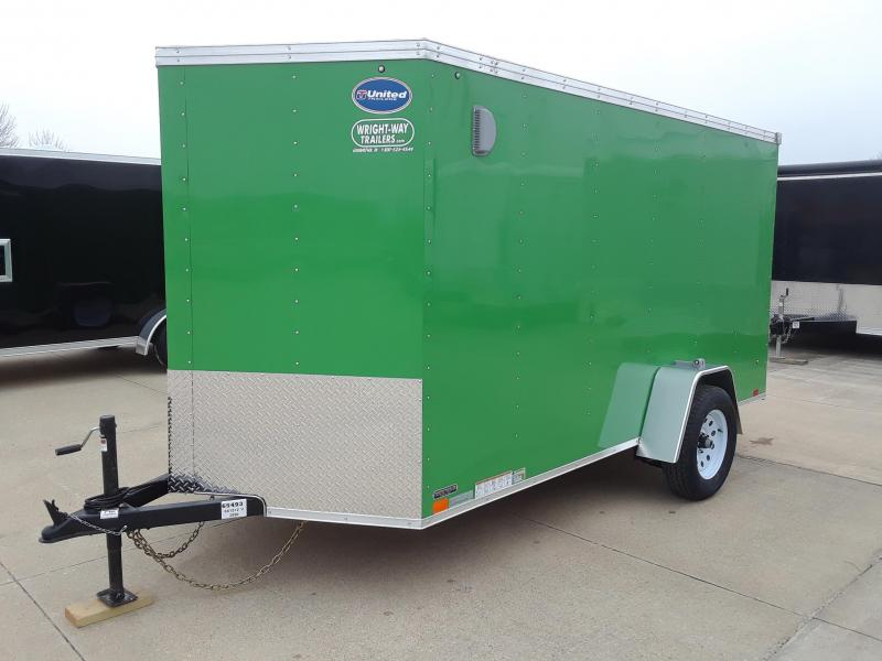 2019 United Trailers 6x12 V Nose Enclosed Cargo Trailer