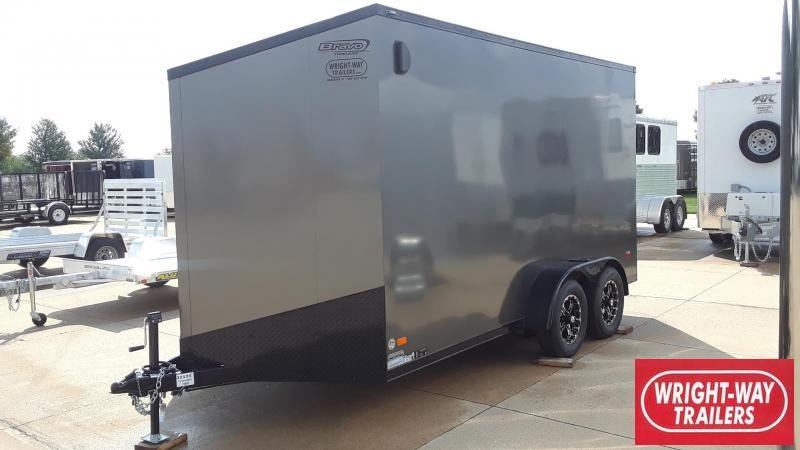 Bravo 7X14 Enclosed Blackout Cargo Trailer
