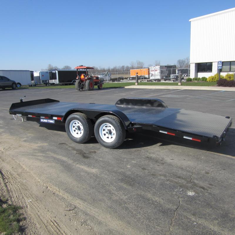 2017 Sure-Trac 7 x 20 Steel Deck Car Hauler 10k