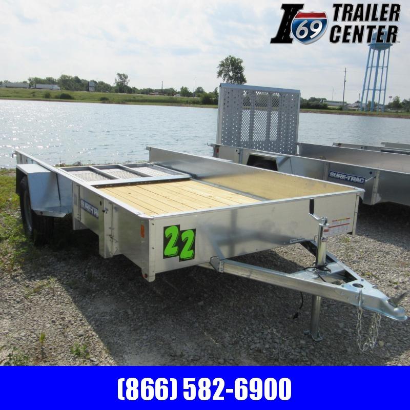 2020 Sure-Trac 6 X 12 Galvanized High Side Utility Trailer