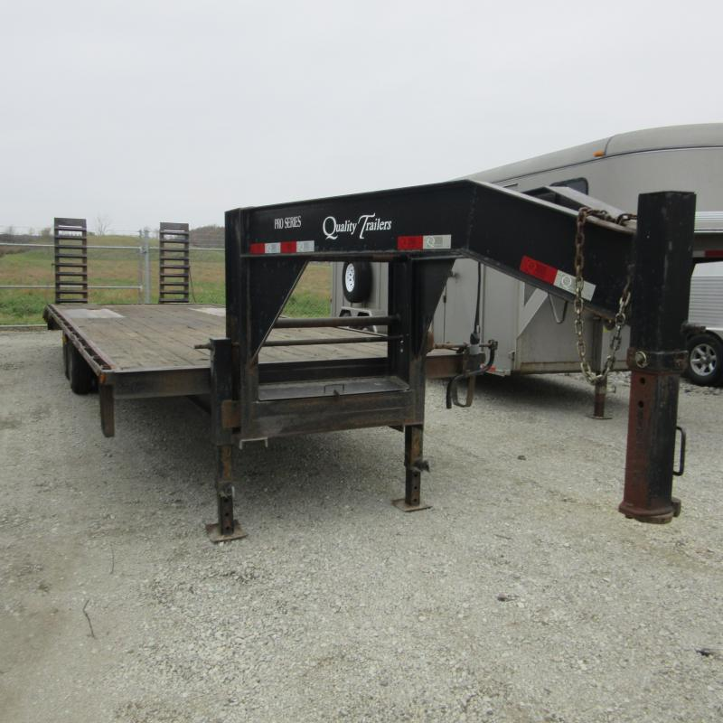 2010 Quality Trailers 25 5 deckover Flatbed Trailer