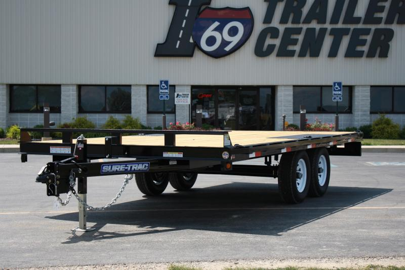 2017 Sure-Trac 8.5X20 DECKOVER Flatbed Trailer