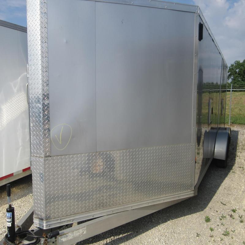 2016 EZ Hauler 7x18 snow mobile trailer Enclosed Cargo Trailer