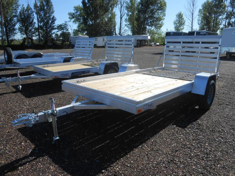2020 Aluma 6812ESW Wood Deck Aluminum Utility Trailer
