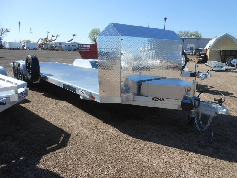 2020 Aluma 8224 Anniversary Edition All Aluminum Car / Racing Trailer
