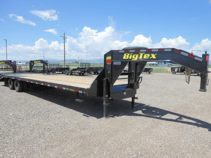 2019 Big Tex Trailers 22GN-28-5MR Gooseneck Flatbed Trailer w/ MEGA RAMPS