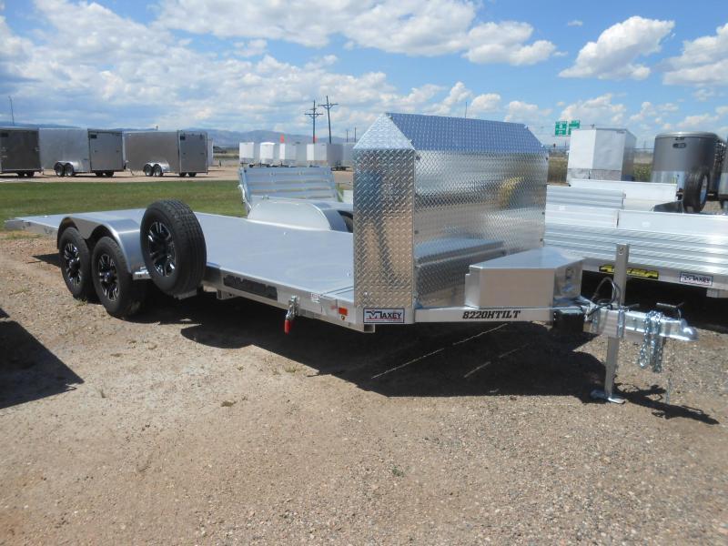2021 Aluma 8220HANV-TILT All Aluminum Tilt Deck Car / Racing Trailer