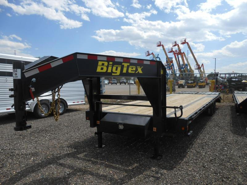2019 Big Tex Trailers 14GN-255MR Gooseneck Flatbed Trailer w/ MEGA RAMPS