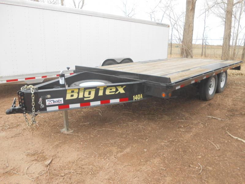 2016 Big Tex Trailers 14OA-16 Bumper Pull Deck-Over Flatbed Trailer