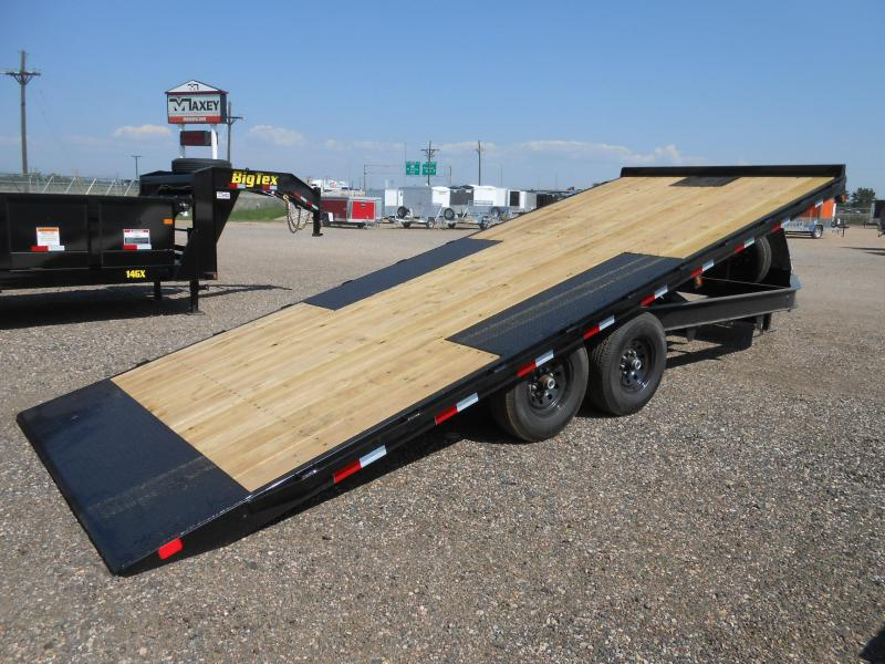 2020 Big Tex Trailers 14OT-22 Bumper Pull Deckover Power Tilt Flatbed Trailer