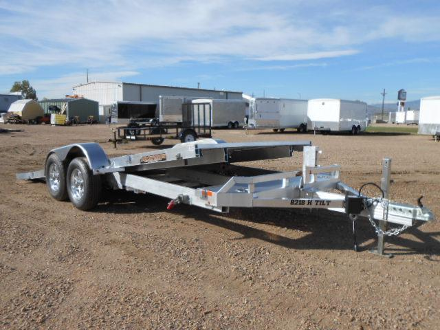 2019 Aluma 8218H-TILT All Aluminum Car / Racing Trailer