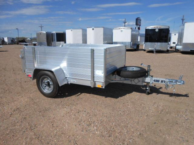 2019 Aluma 486BT All Aluminum Utility Trailer w/ Solid Sides