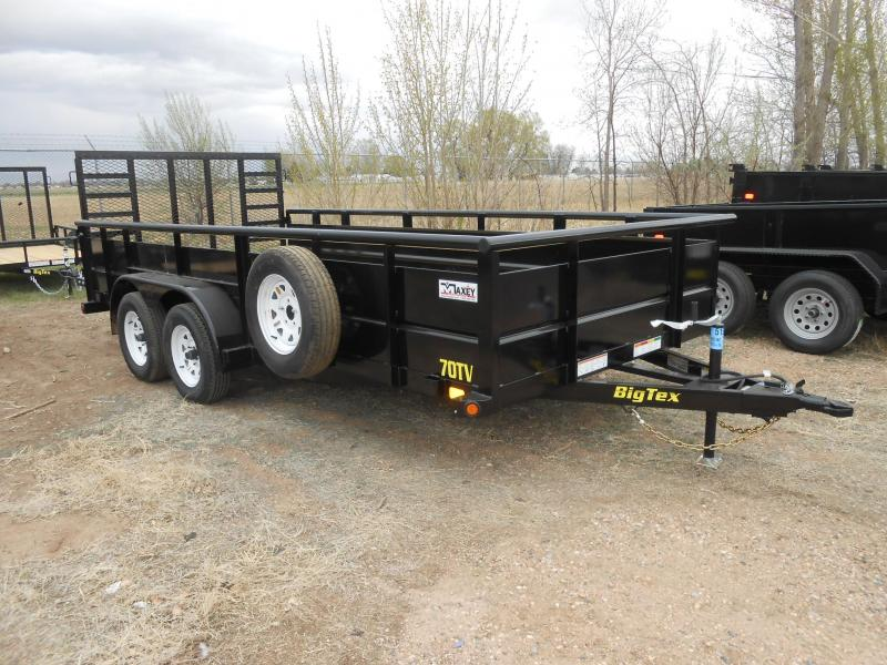 2018 Big Tex Trailers 70TV-16 Solid Side Utility Trailer
