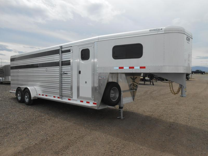 2018 CM 24FT ROUNDUP AL STOCK COMBO Livestock Trailer