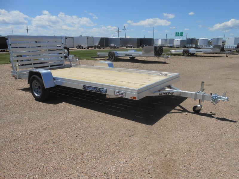 2020 Aluma 7814ESW Wood Deck Aluminum Utility Trailer