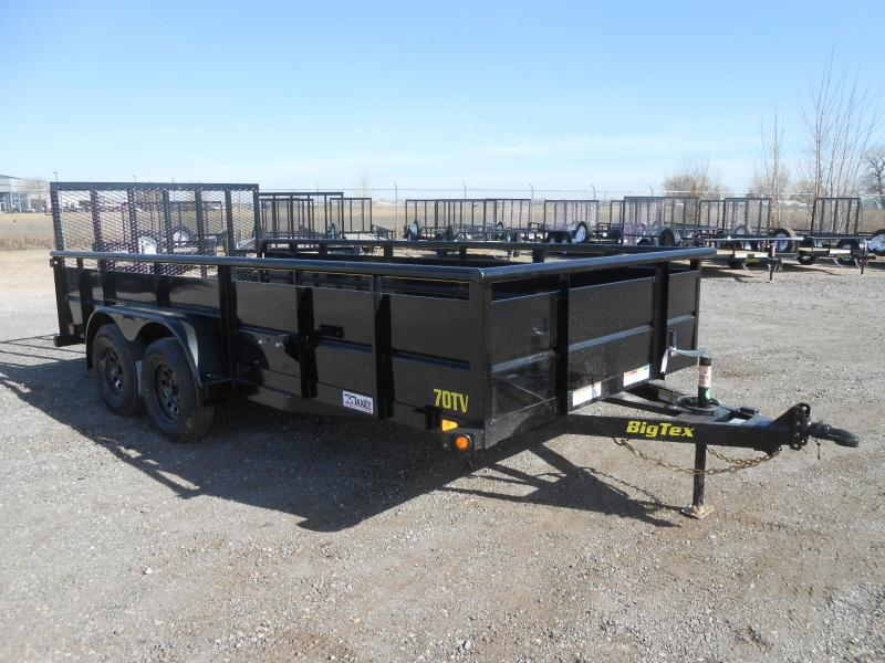 2019 Big Tex Trailers 70TV-16 Solid Side Utility Trailer