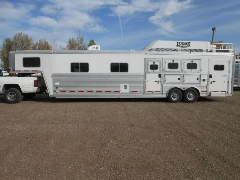 2015 Logan Coach RAZOR 3 Horse Trailer w/ 15' Living Quarter