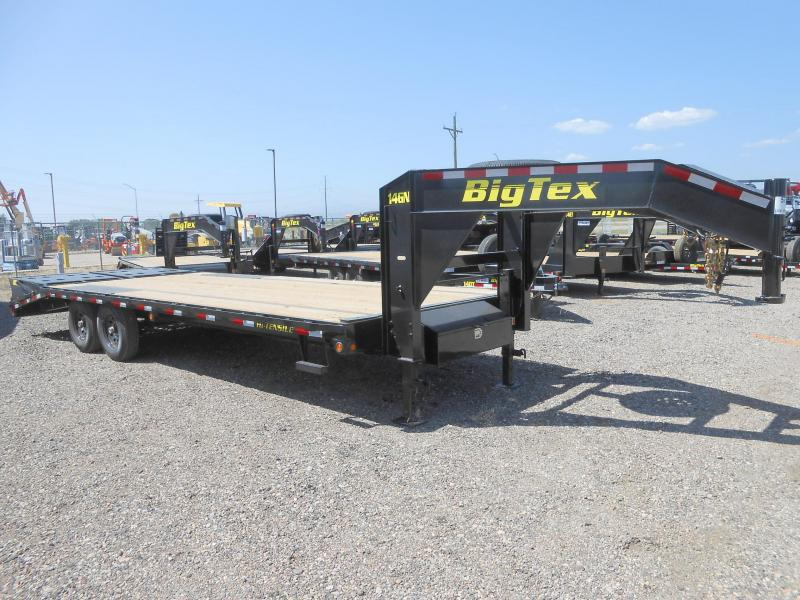 2019 Big Tex Trailers 14GN-20-5MR Gooseneck Flatbed Trailer w/ MEGA RAMPS