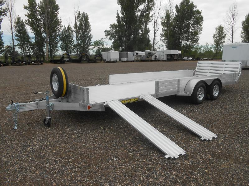 2020 Aluma 8122TA-SR-BT Aluminum ATV / UTV Utility Trailer