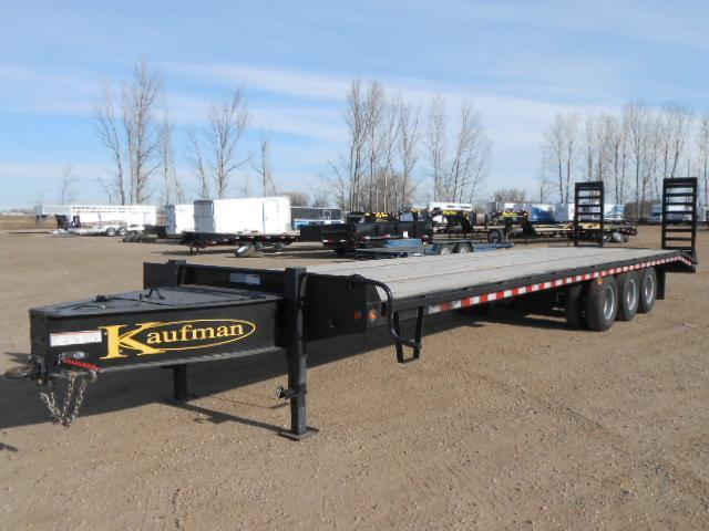 2014 Kaufman Trailers 8W X 30L + 5' DOVETAIL Equipment Trailers