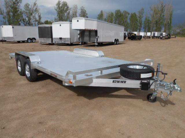 2019 Aluma 8216WB All Aluminum Wide Body Car / Racing Trailer