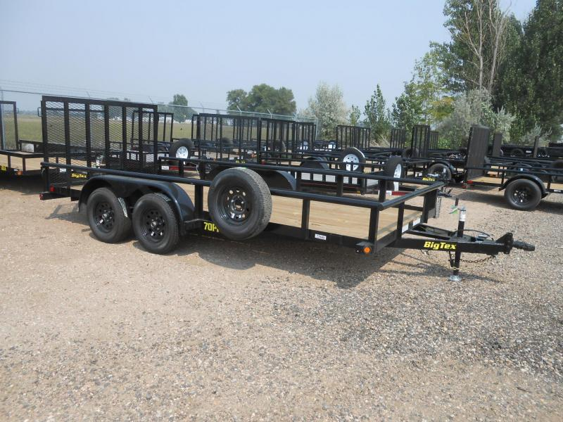 2020 Big Tex Trailers 70PI-16X Tandem Axle Utility Trailer