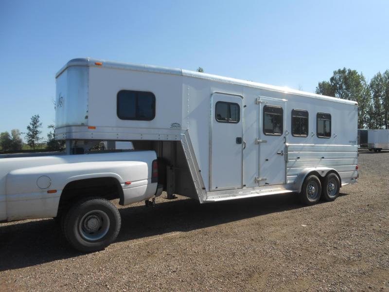 2004 Kiefer Built All Aluminum GENESIS X 3 Horse Trailer