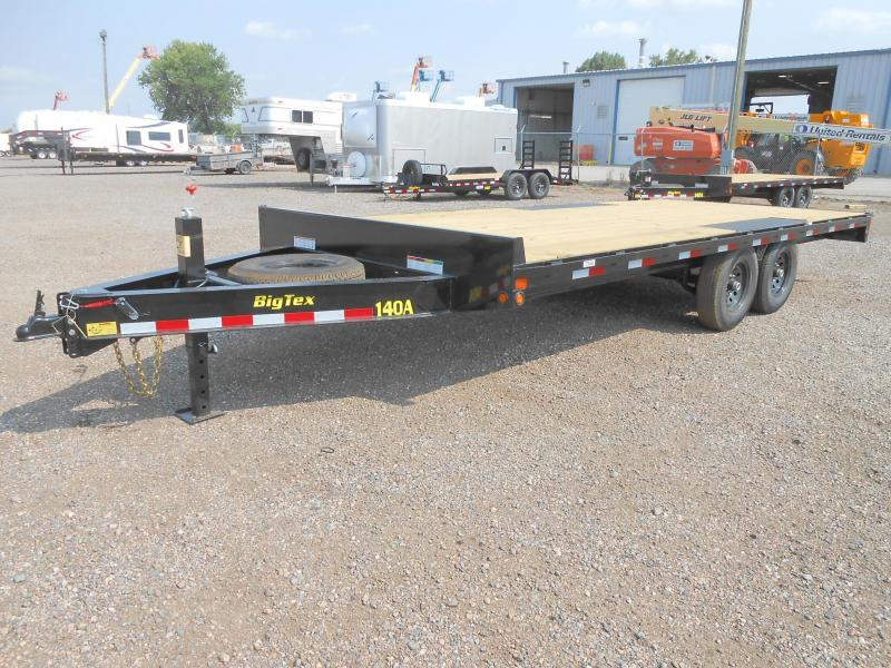 2020 Big Tex Trailers 14OA-20 Bumper Pull Deck Over Flatbed Trailer