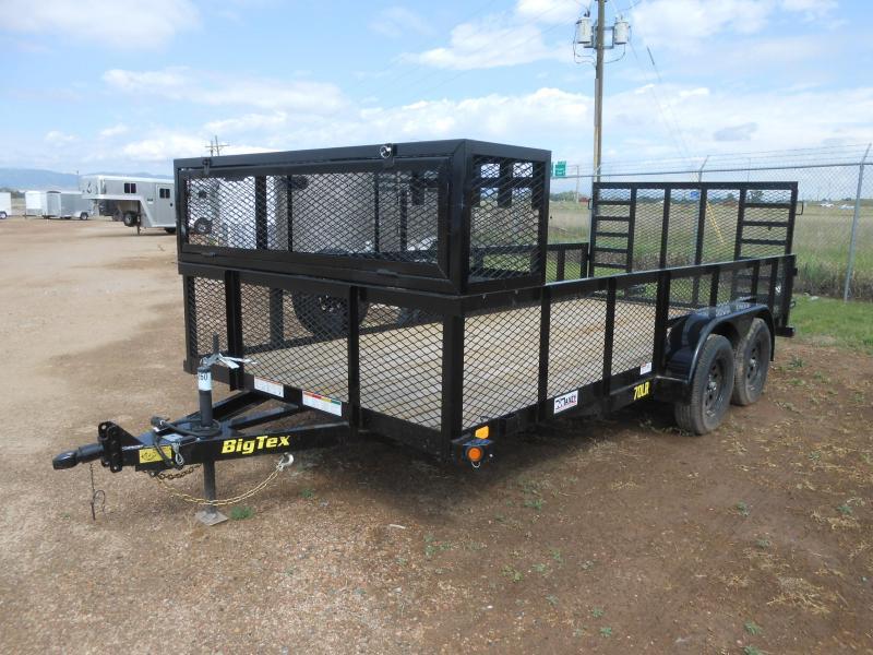 2019 Big Tex Trailers 70LR-16 Landscaping / Utility Trailer w/ Heavy Duty Ramp