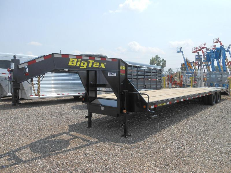2019 Big Tex Trailers 22GN-35-5MR Flatbed Trailer w/ MEGA RAMPS