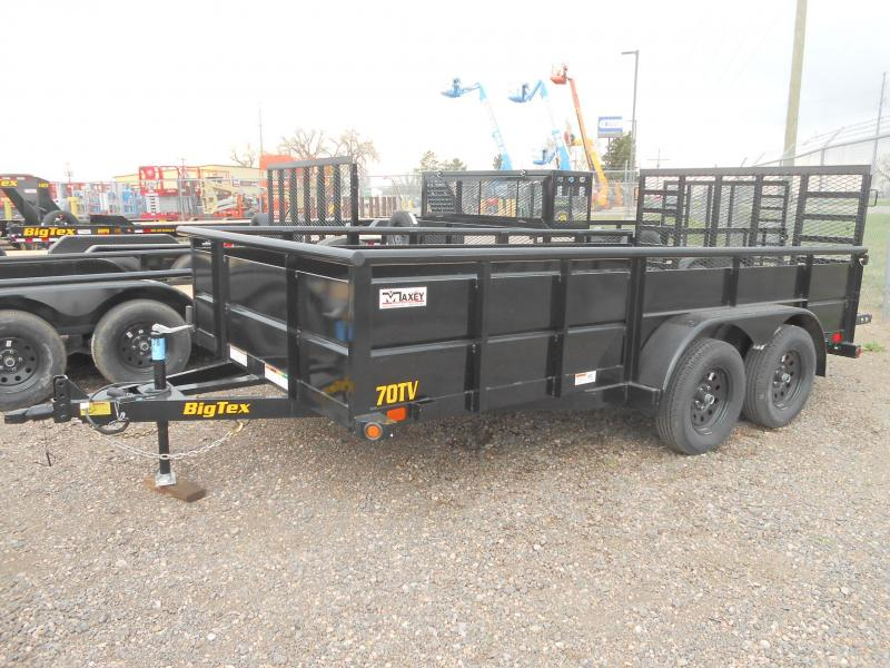 2019 Big Tex Trailers 70TV-14 Solid Side Utility Trailer w/ Heavy Duty Ramp