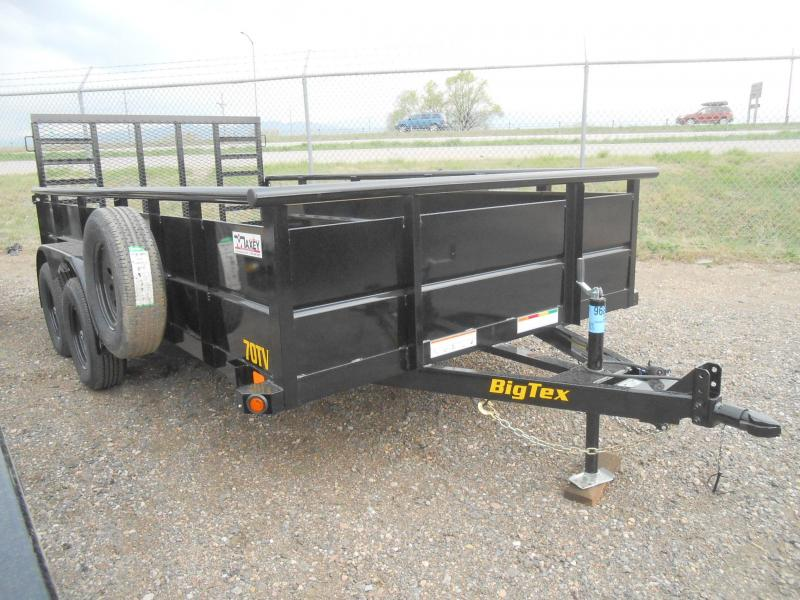 2020 Big Tex Trailers 70TV-14 Solid Side Utility Trailer