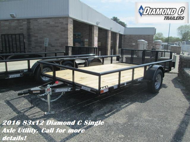 2016 83x12 Diamond C Single Axle Utility. 75856