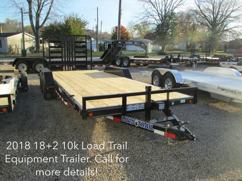 "2018 18'+2' x 83"" 10K GVWR  Load Trail Equipment Trailer. 51828"