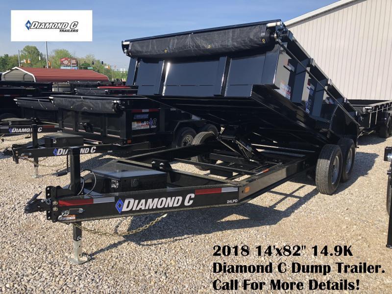 """2018 14'x82"""" 14.9K Diamond C Dump Trailer. 00380"""