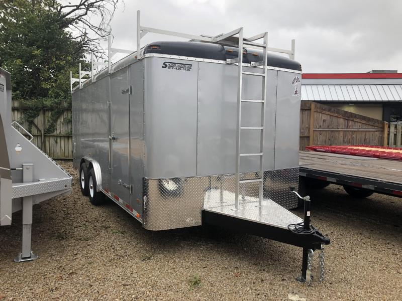 2019 8x18 10K Atlas Enclosed Cargo Trailer. 41392