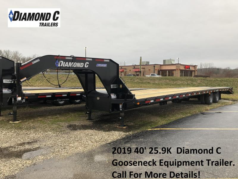 2019 40' 25.9K  Diamond C GN Equipment Trailer. 08996