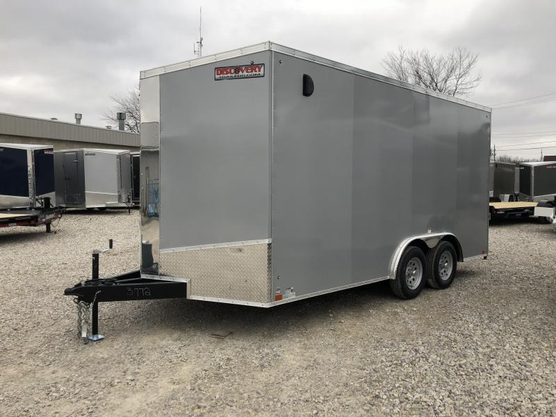 2019 8.5x16 7K Discovery Enclosed Trailer. 3772