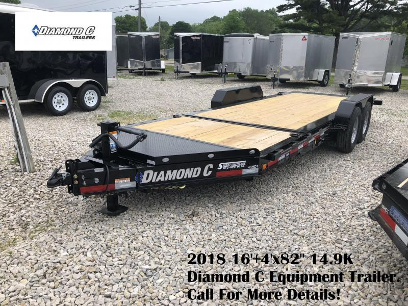 "2018 16'+4'x82"" 14.9K Diamond C Equipment Trailer. 00897"
