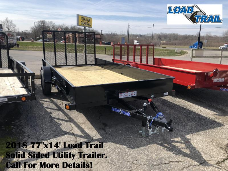 "2018 77""x14' Load Trail Solid Sided Utility Trailer. 59889"
