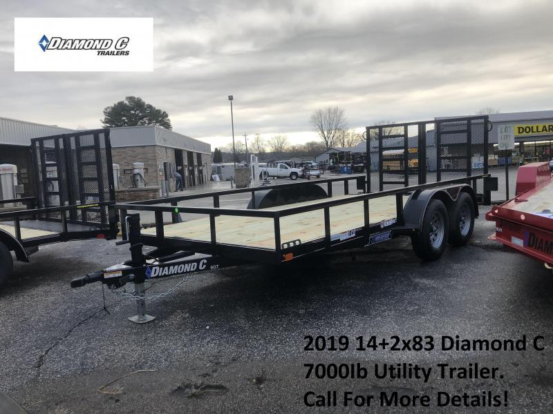 2019 14+2x83 7K Diamond C Utility Trailer. 10207
