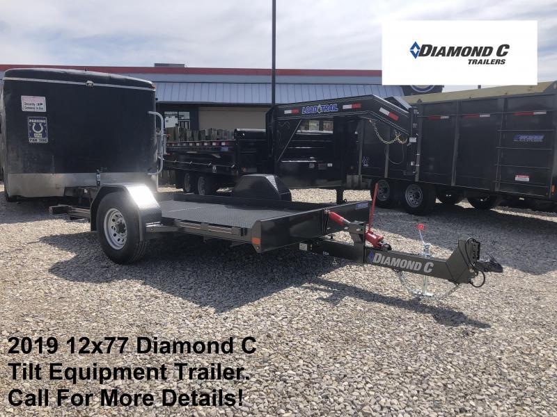 2019 12x77 Diamond C Tilt Equipment Trailer. 13436