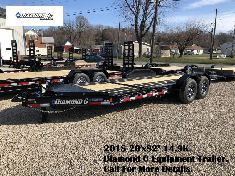 "2018 20'x82"" 14.9K Diamond C Equipment Trailer. 98802"