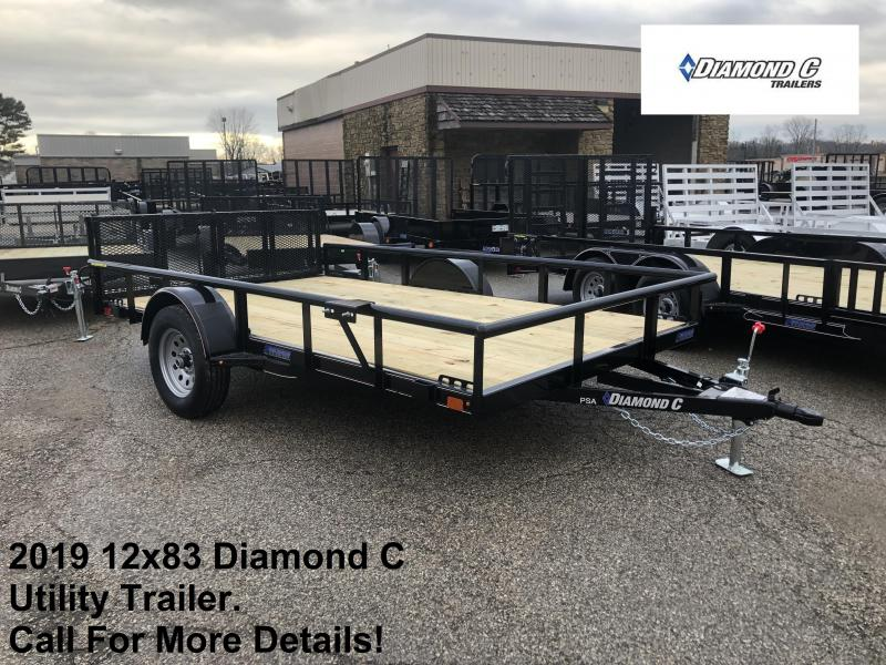 2019 12x83 Diamond C Utility Trailer. 10532