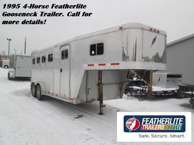 1995 Featherlite 4-Horse Gooseneck Stock Horse Trailer. 810100
