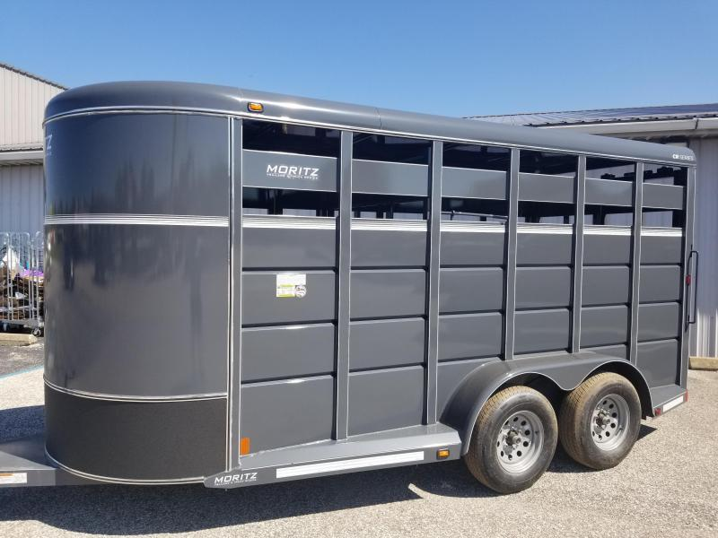 2019 6x16 Moritz International CBR6 -16 7000 Livestock Trailer